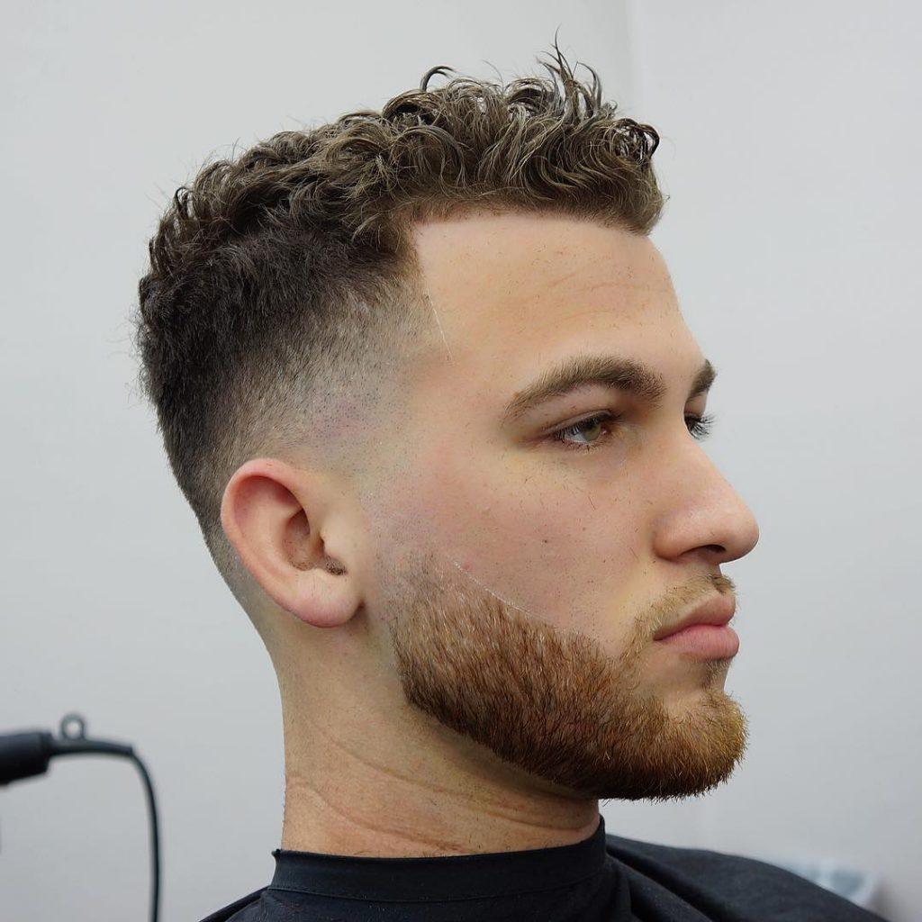 Curly Hair + Skin Fade