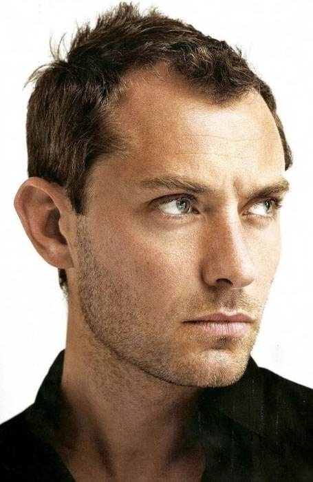 Jude Law short crew cut