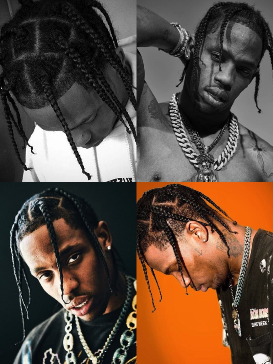Travis Scott Short Braided Hairstyle For Men Men S