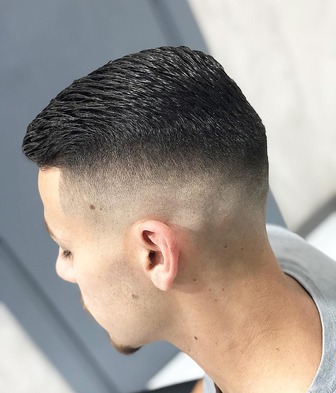 Bald Fade + Longer Top