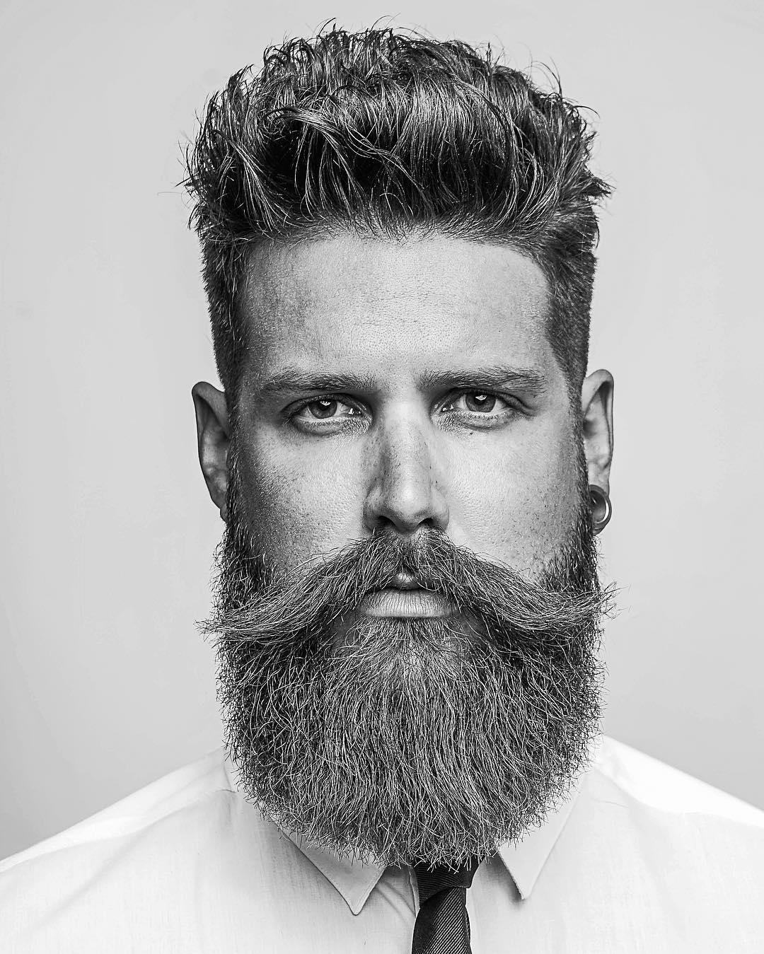 Classic Quiff + Full Beard