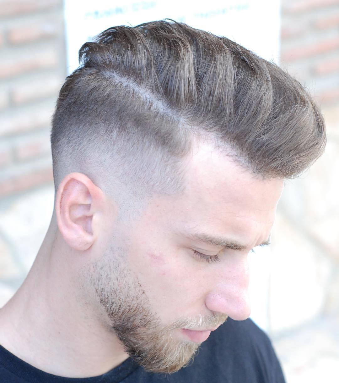 Comb Over + Razor Fade + Short Beard