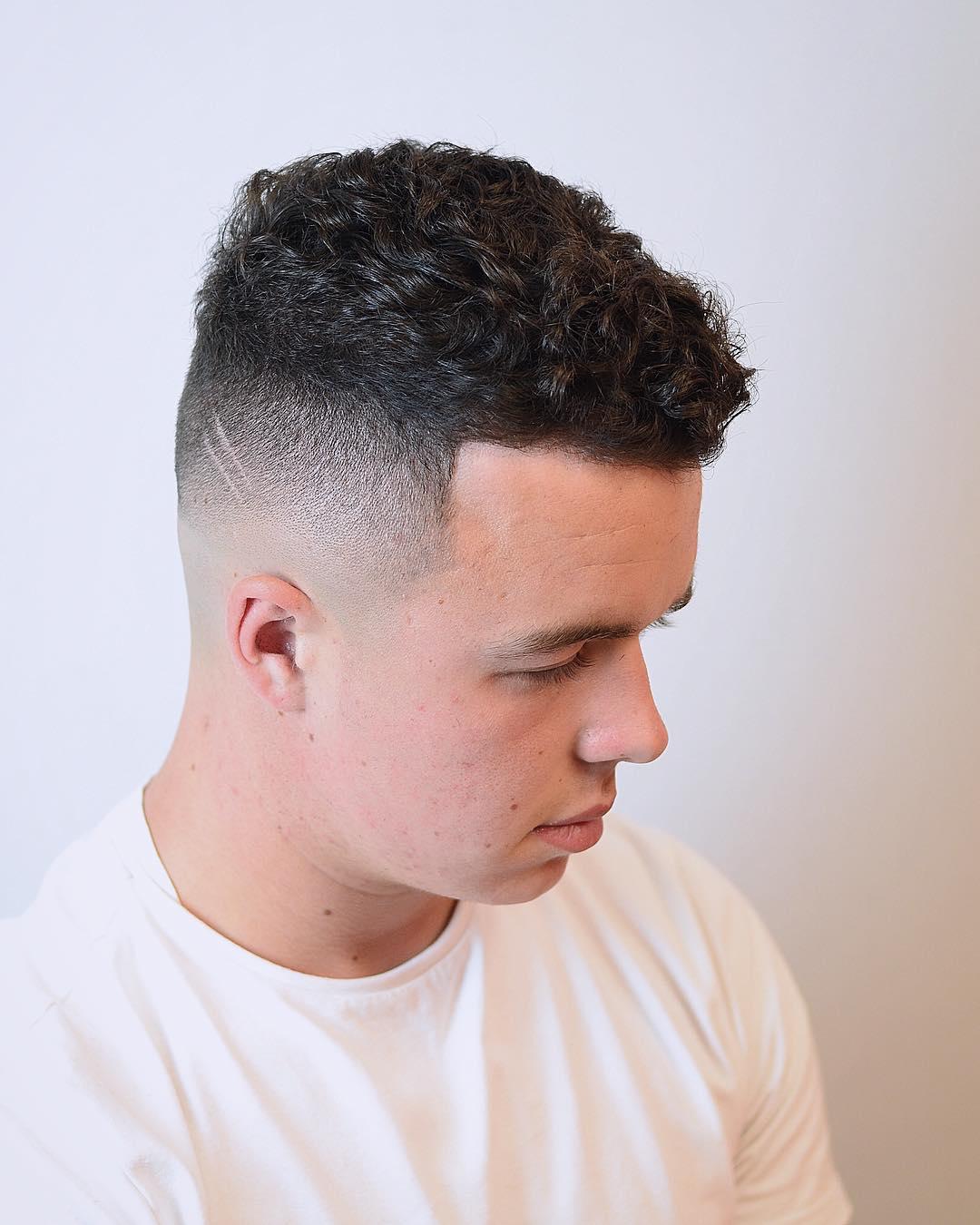 Curly Razor Fade