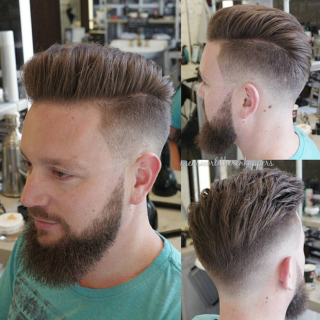 Fade Undercut for Medium Hair