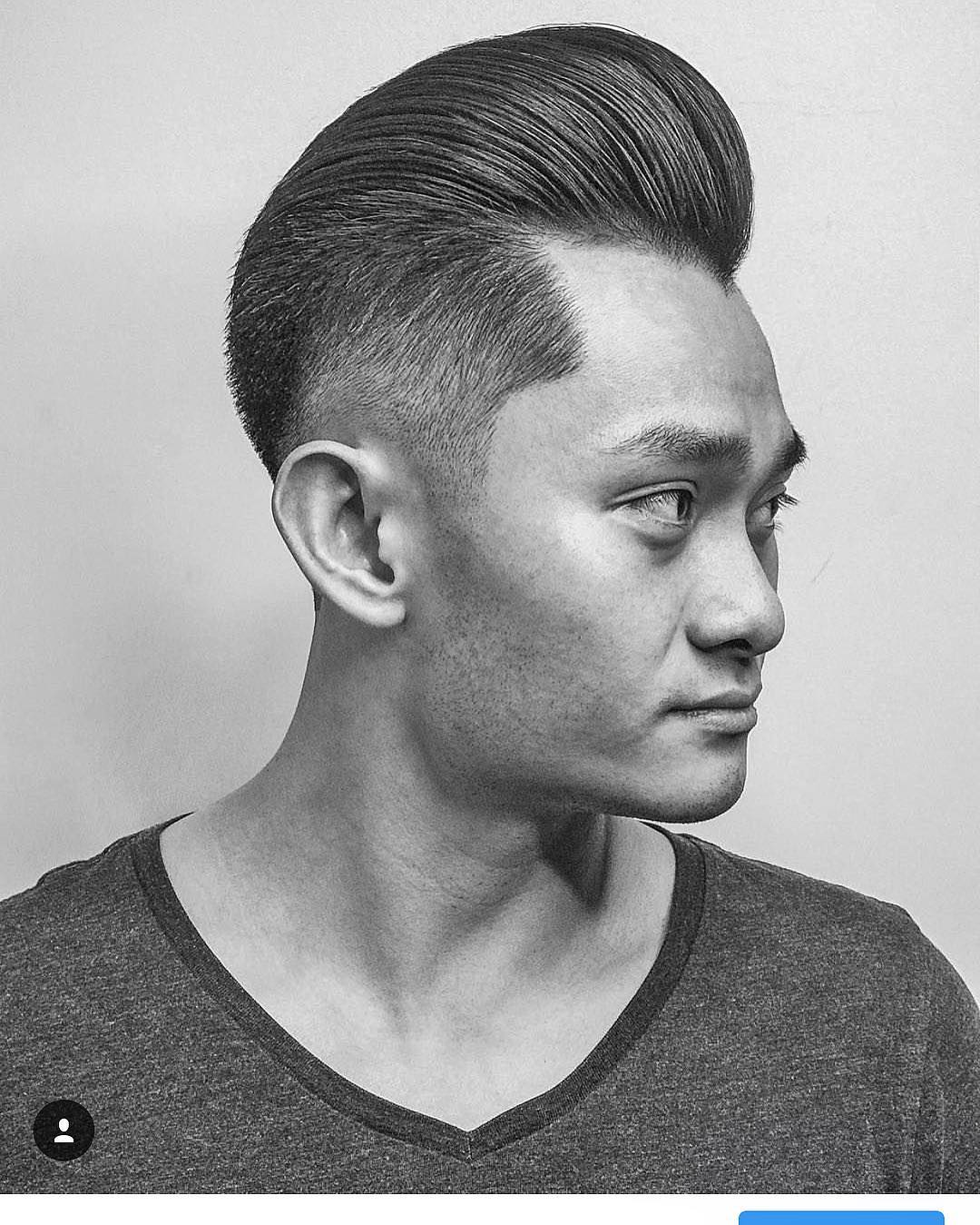 Faded Long Hair Pomp