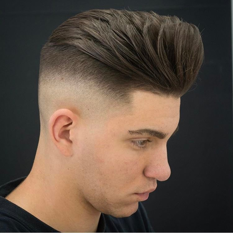 Loose Pompadour + High Fade