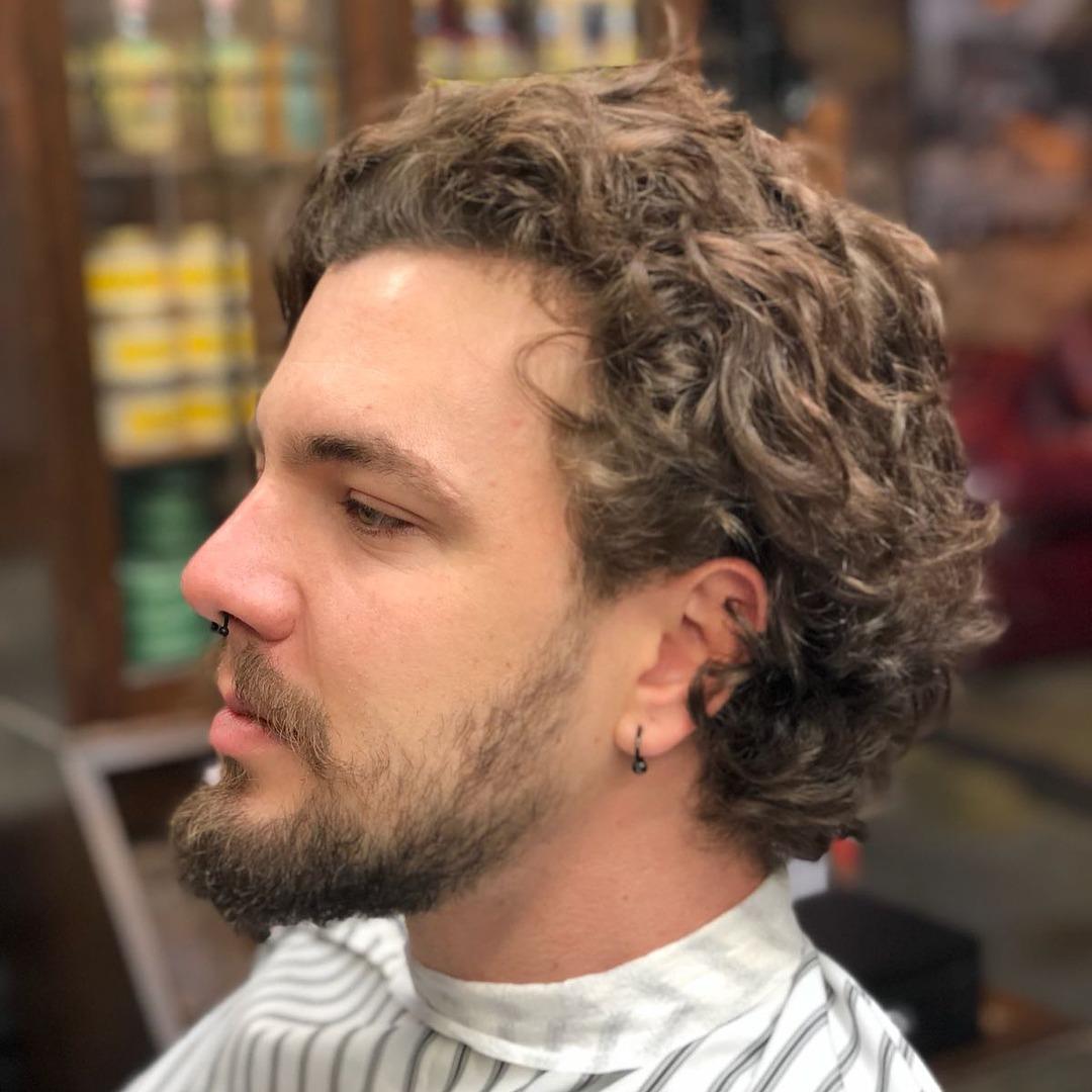 Messy Medium-length Hairdo