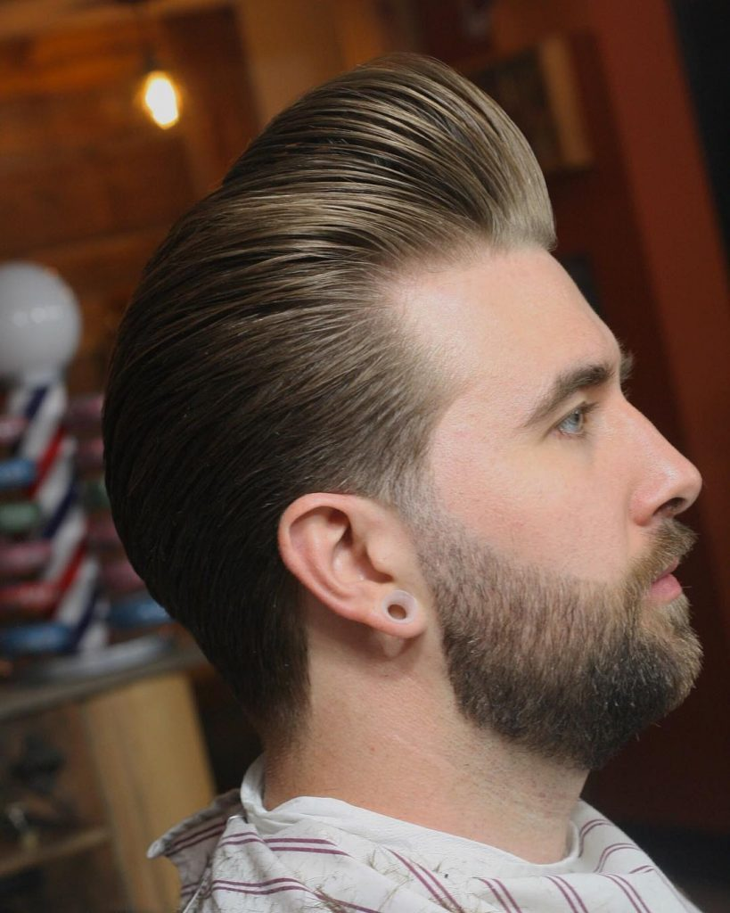 Pompadour + Taper Cut