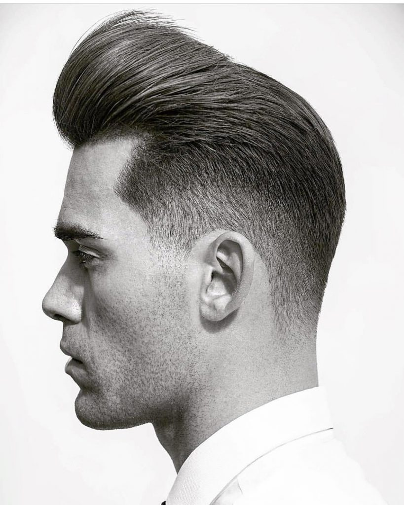 Pompadour for Very Straight Hair