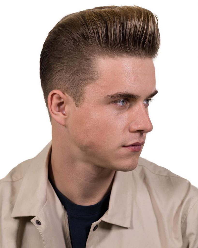 Smooth and Sleek Pompadour
