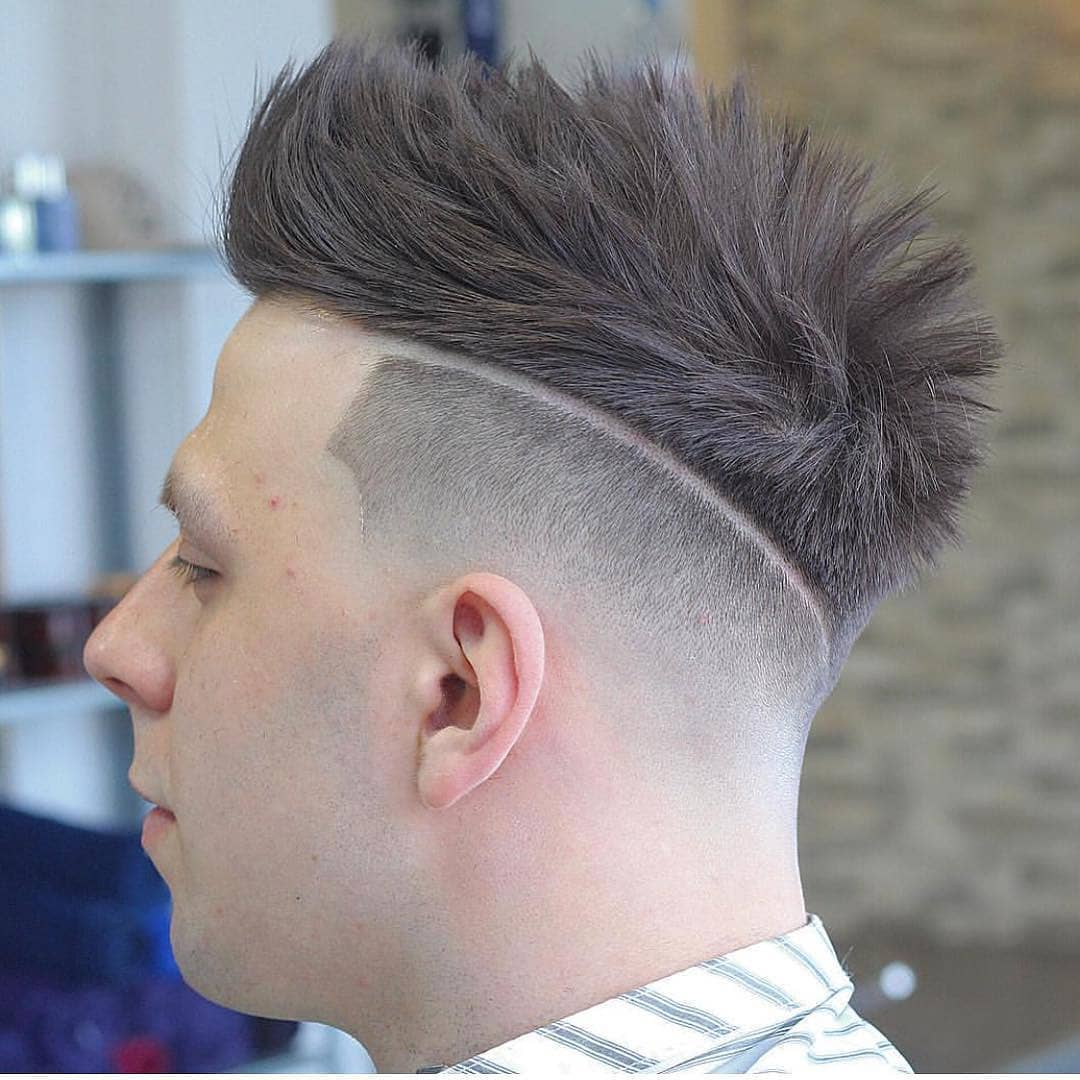 Spiky Hair + Sharp Fade + Part Design