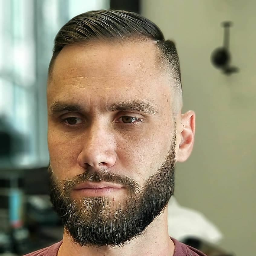 Combover + Bald Fade for Short Hair