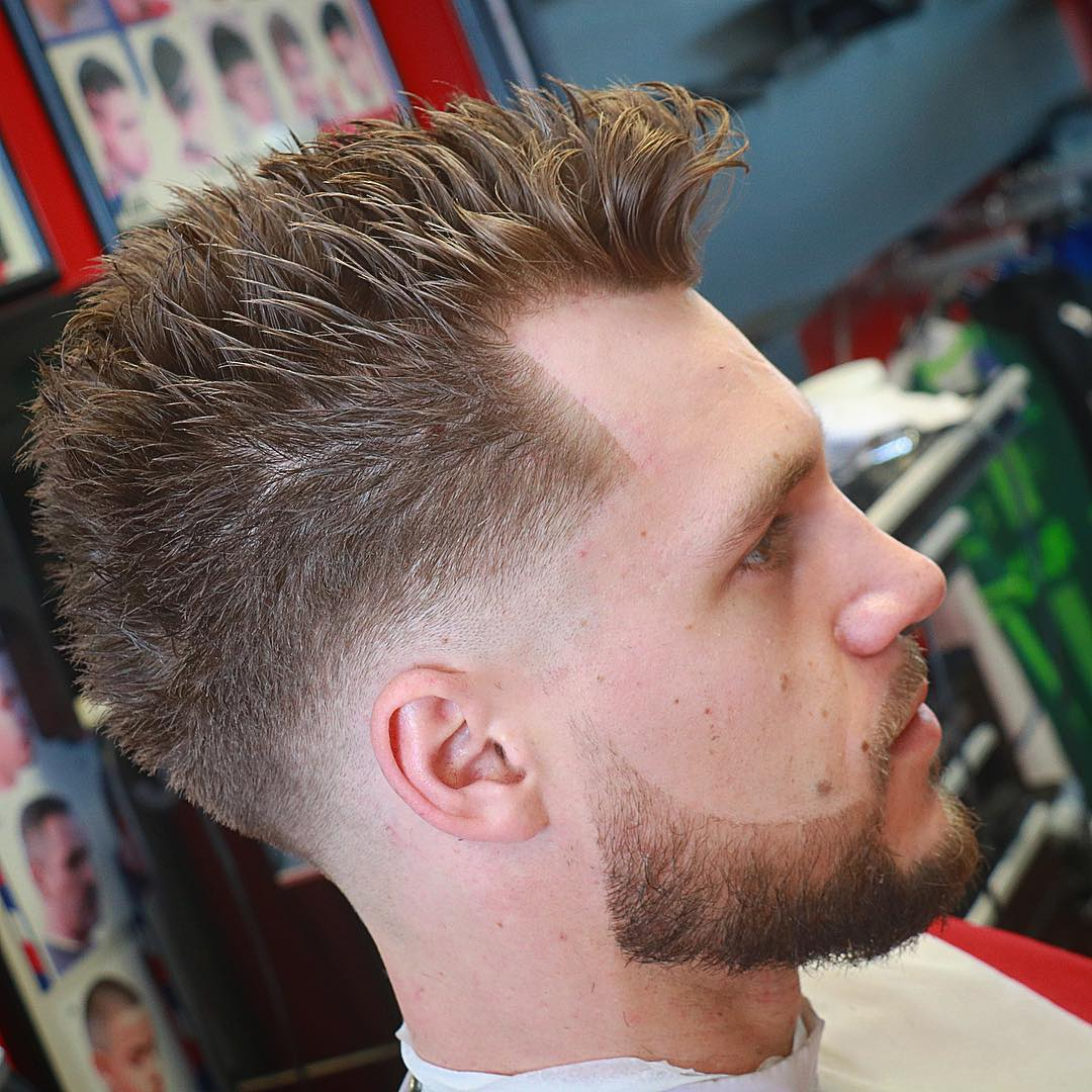 Low Fade with Spiked Hair