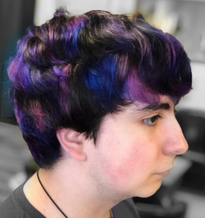 Purple and Blue Highlights