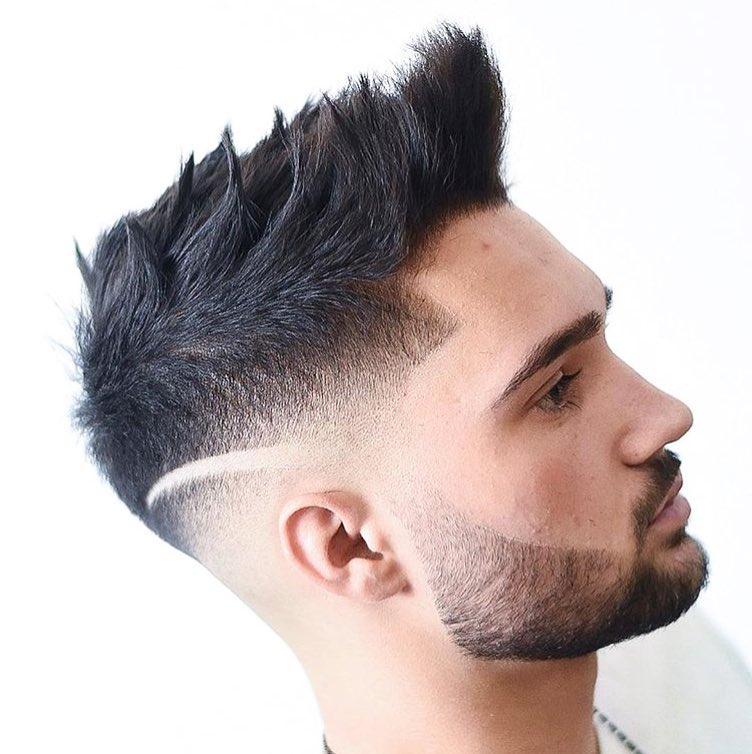 Spiky Undercut + Medium Hair