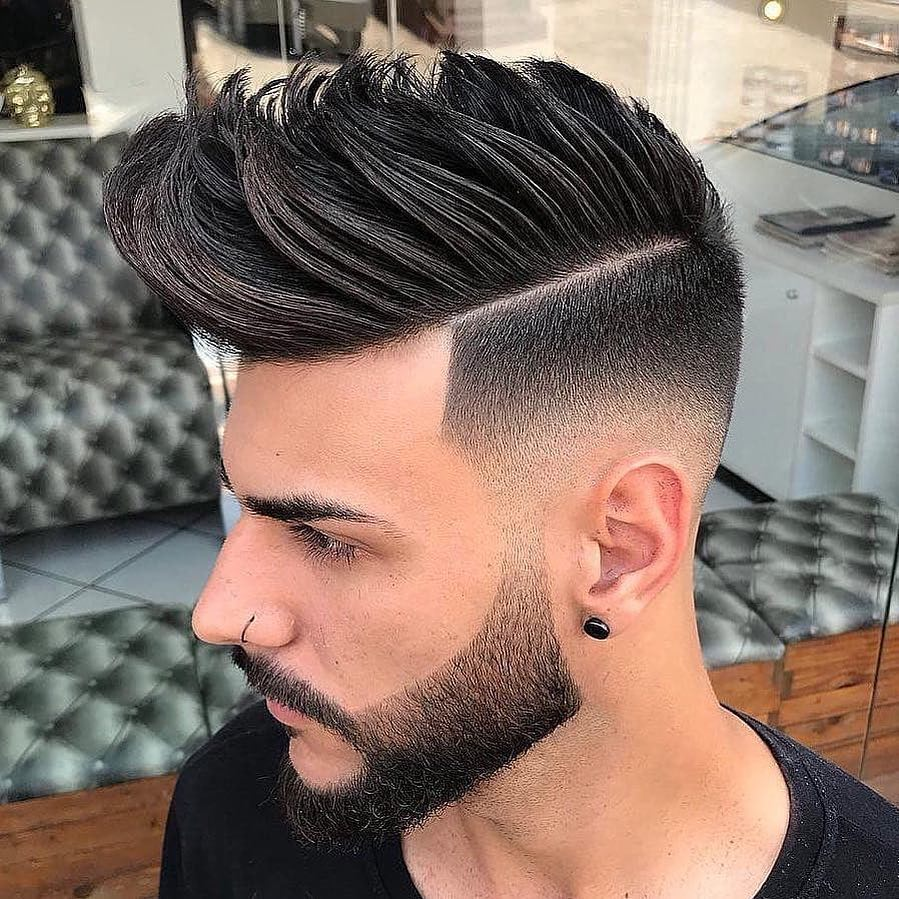 Textured Mid Fade + Medium Length
