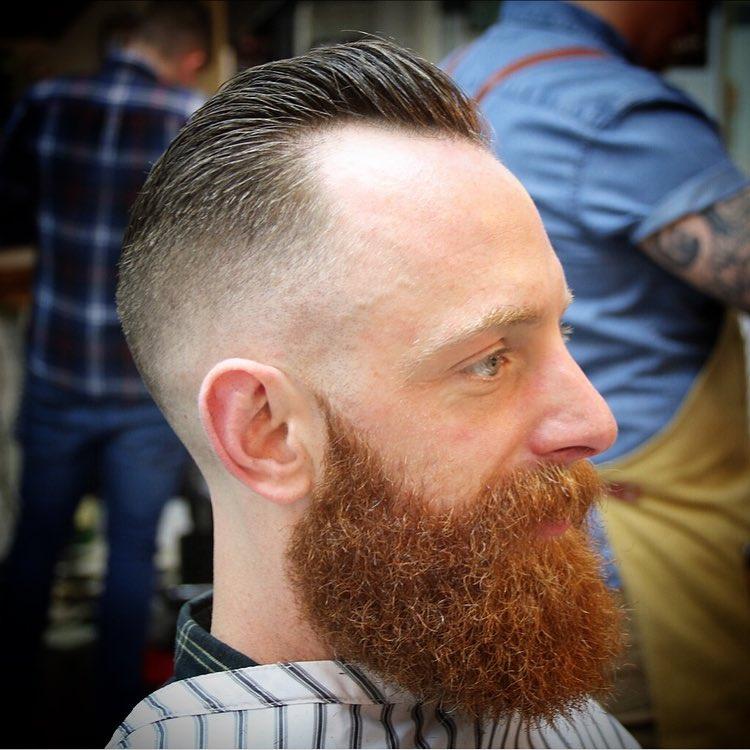 Bald Fade + Beard