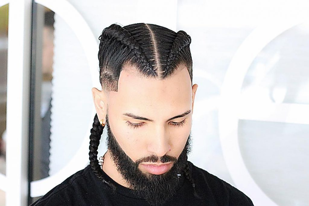 Clean Braid + Groomed Beard