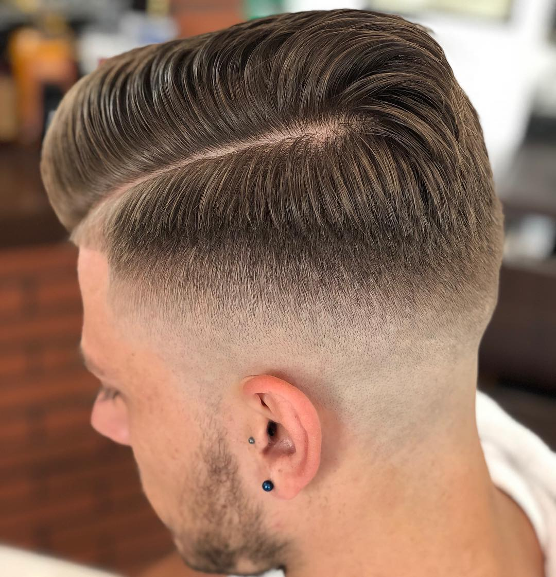 Clean Side Part + Sharp Fade