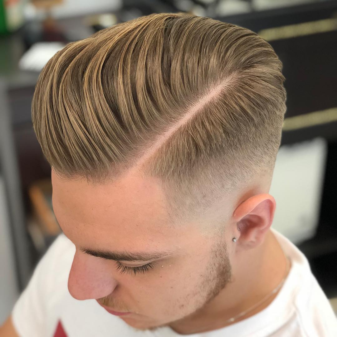 Clean Side Parting + Razor Fade