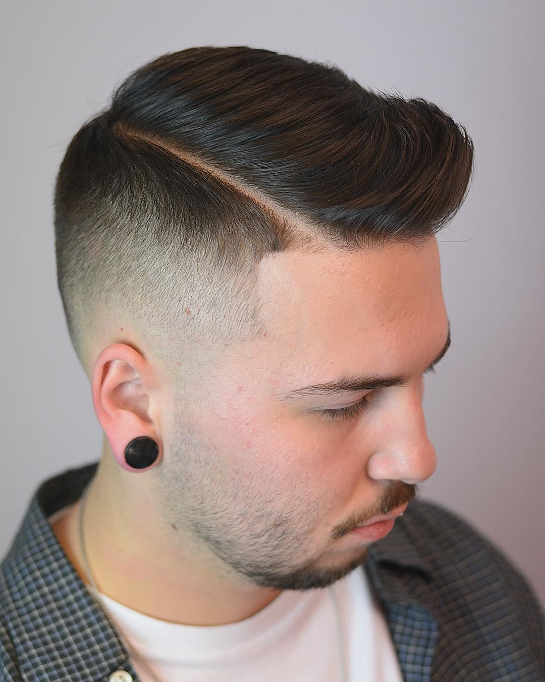 Taper Fade + Side Part