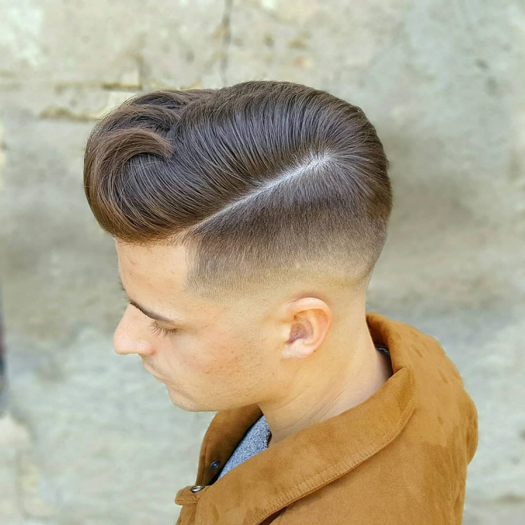 Creative Side Part + High Fade