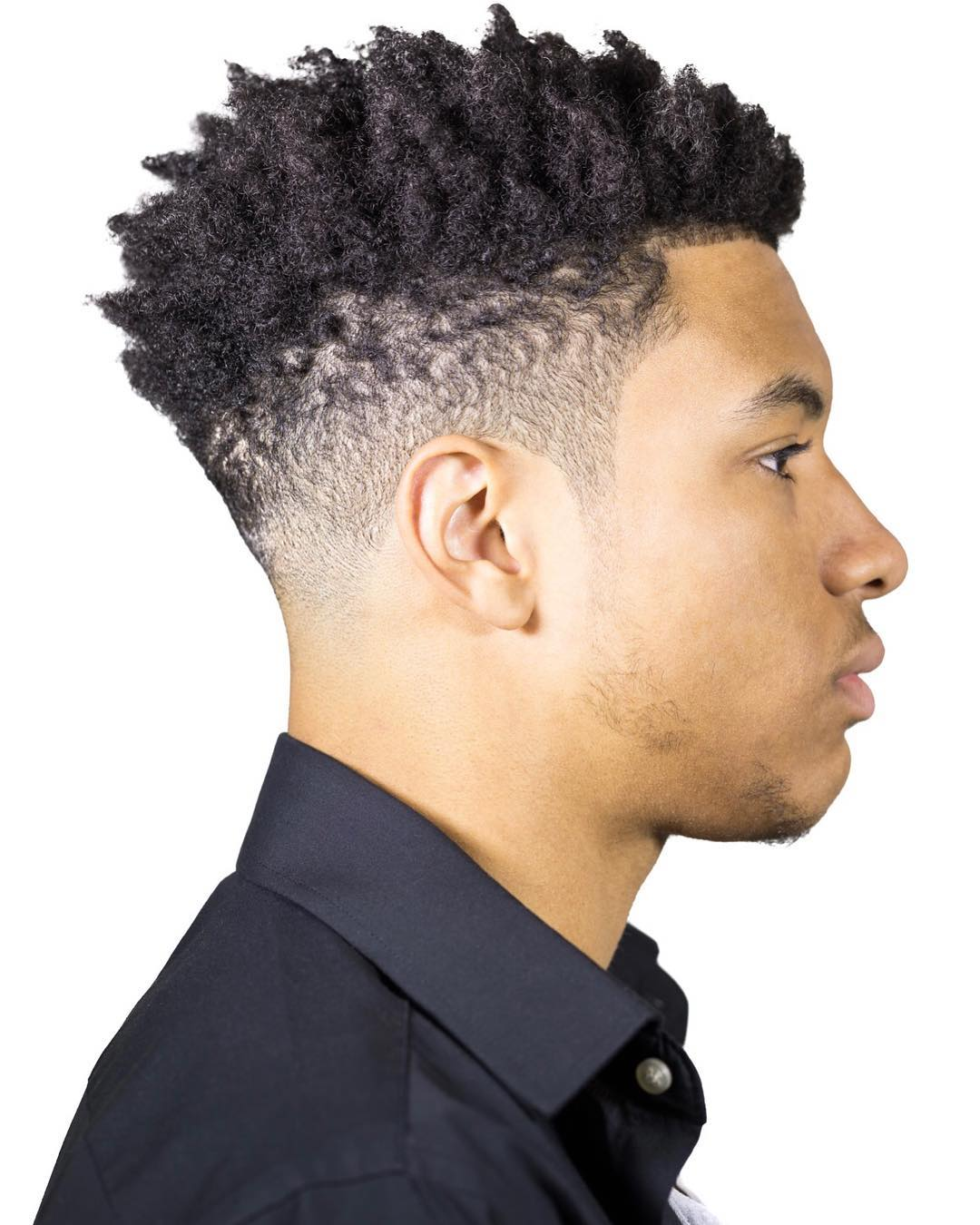 Curly with fade