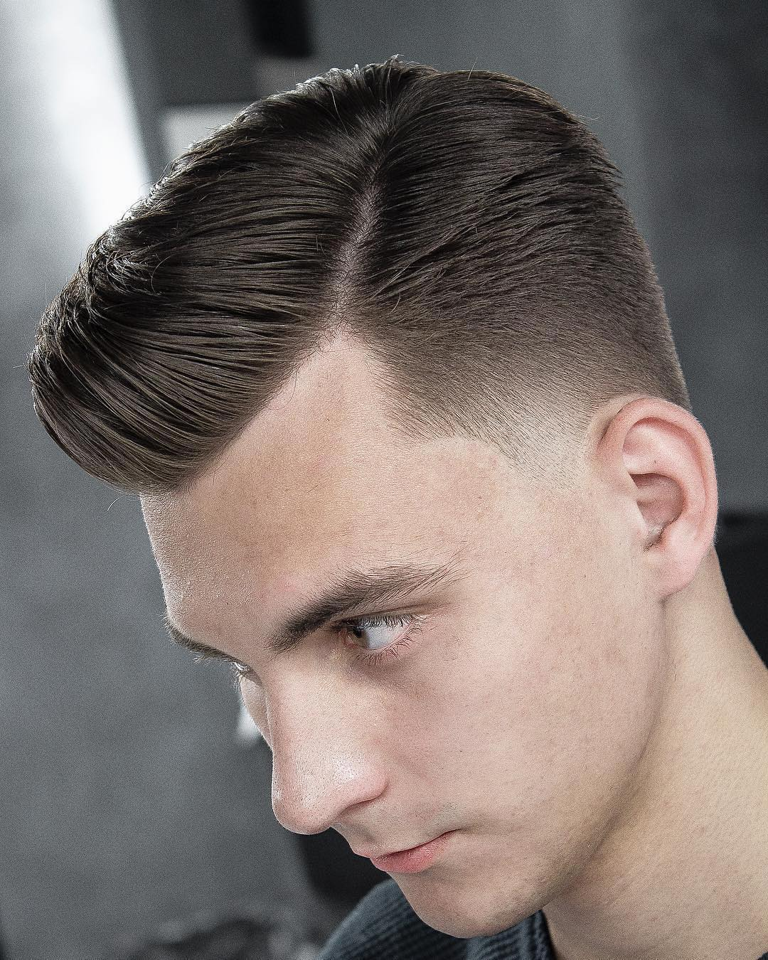 Elegant Taper + Side Part
