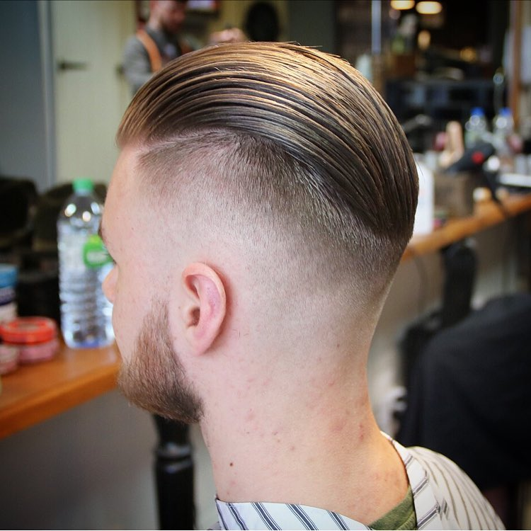 High Fade + Slick Back