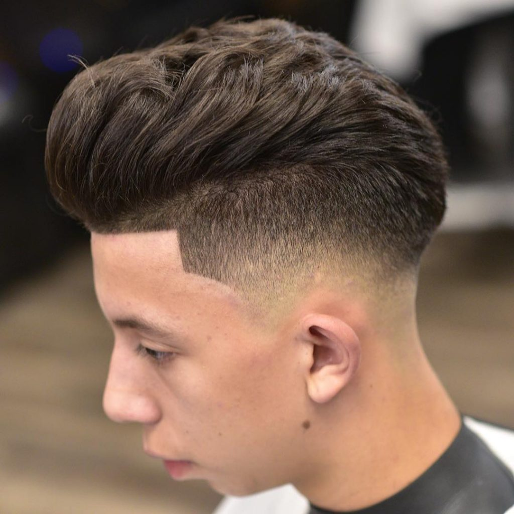 Layered Haircut + Sharp Fade