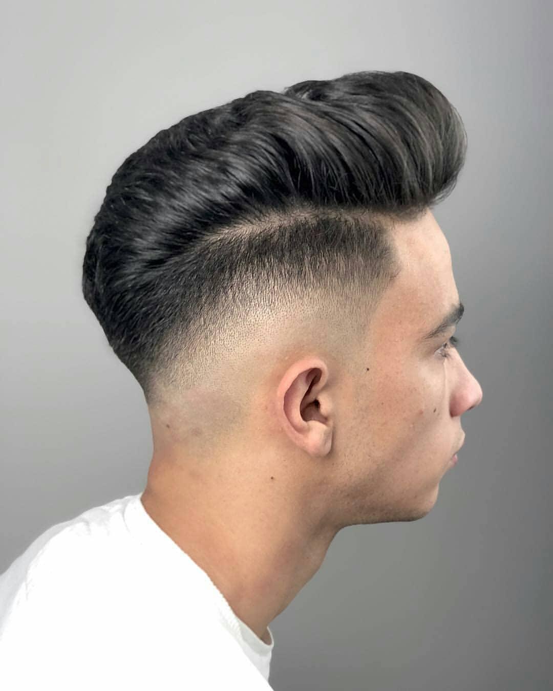 Pomp + Mid Sharp Fade