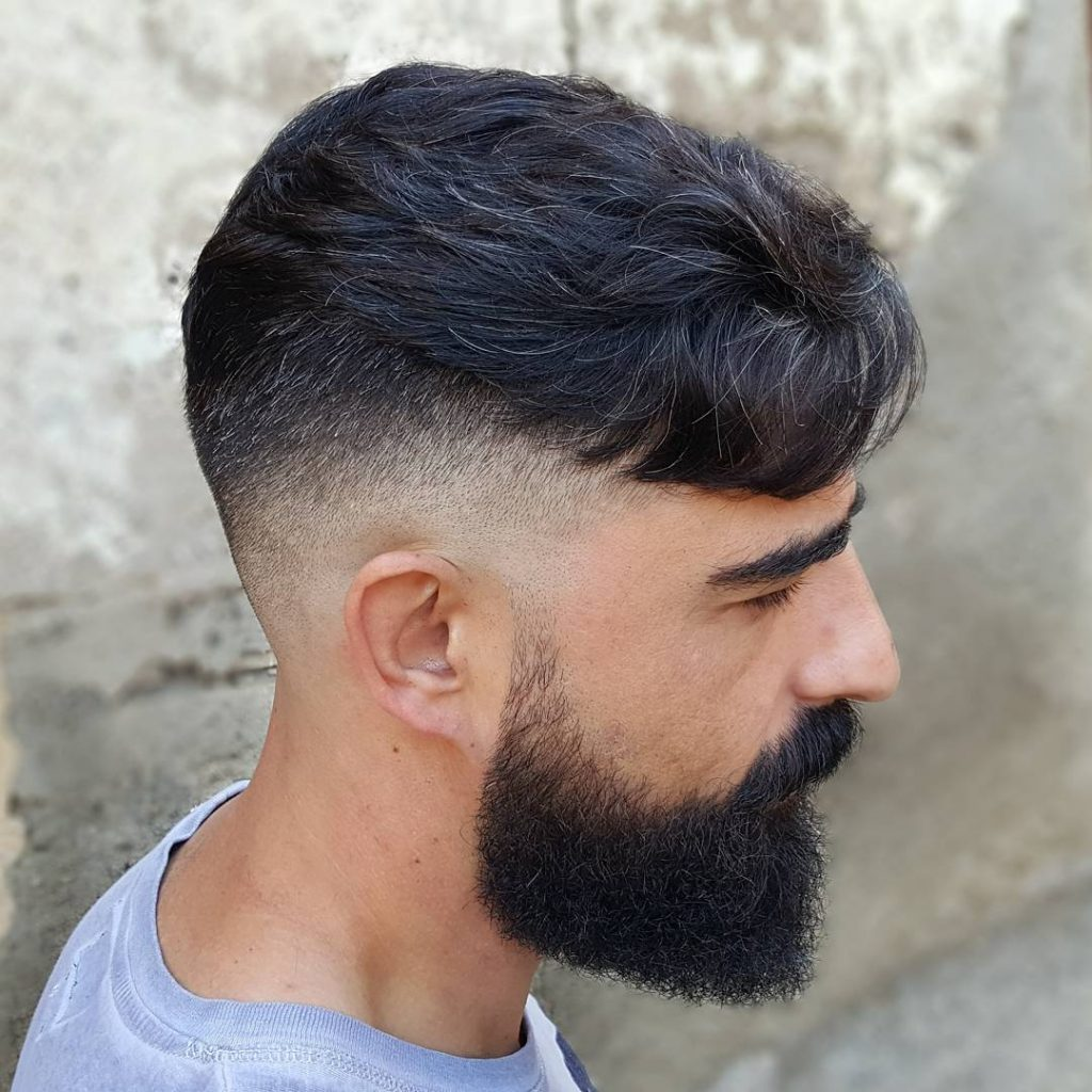 Sharp Undercut for Thick Hair