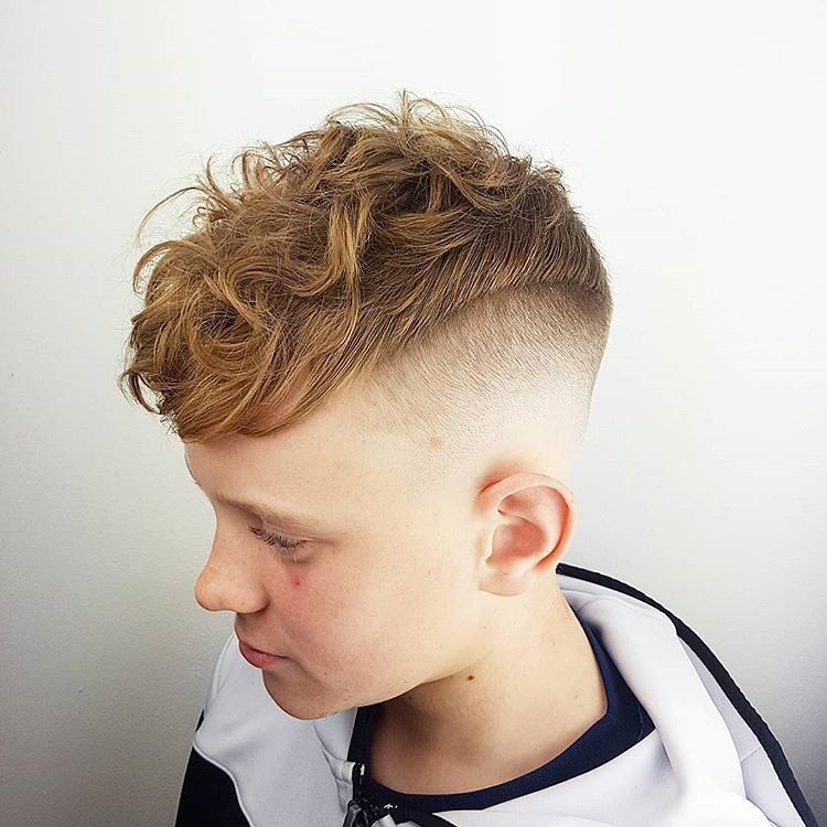 Skin Fade for Medium Curly Hair