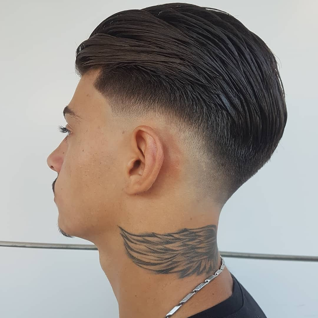 Slick Back + Low Fade