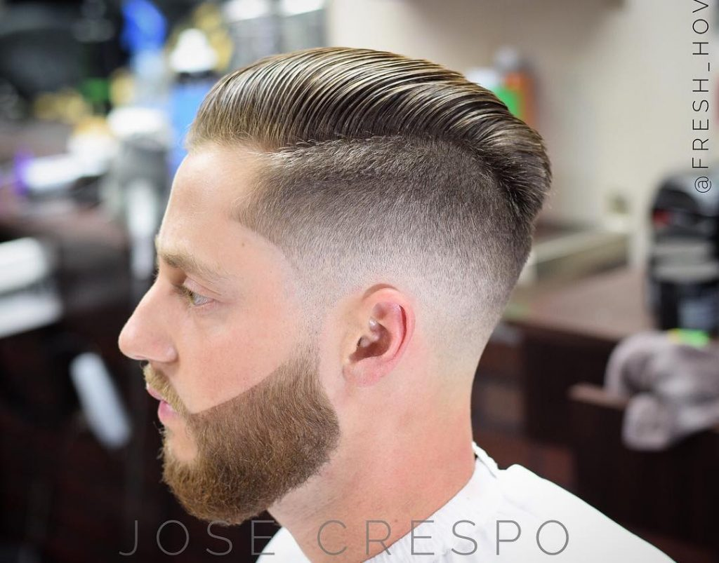 Slick Back + Mid Fade