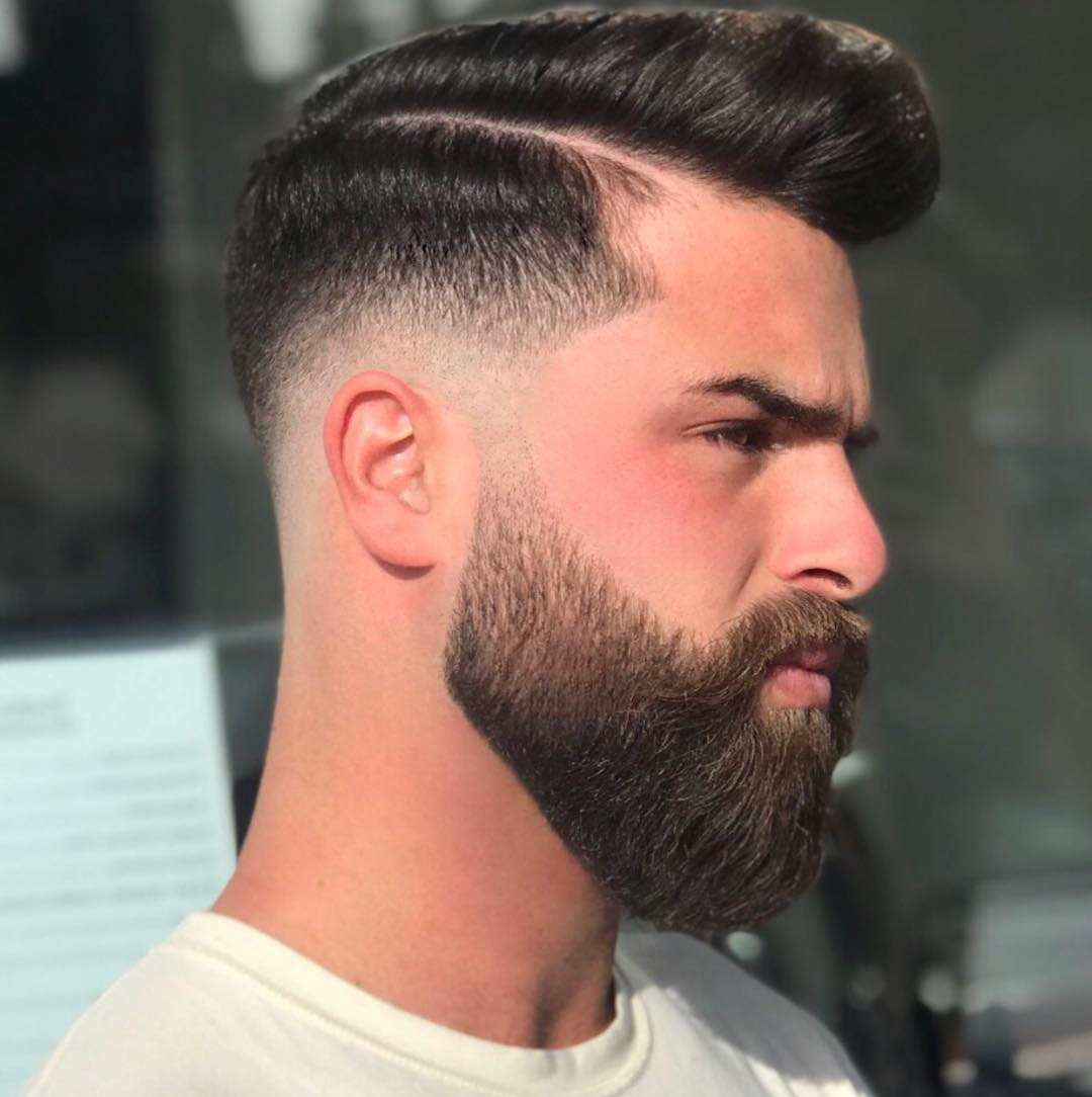 Classic Side Part + Beard