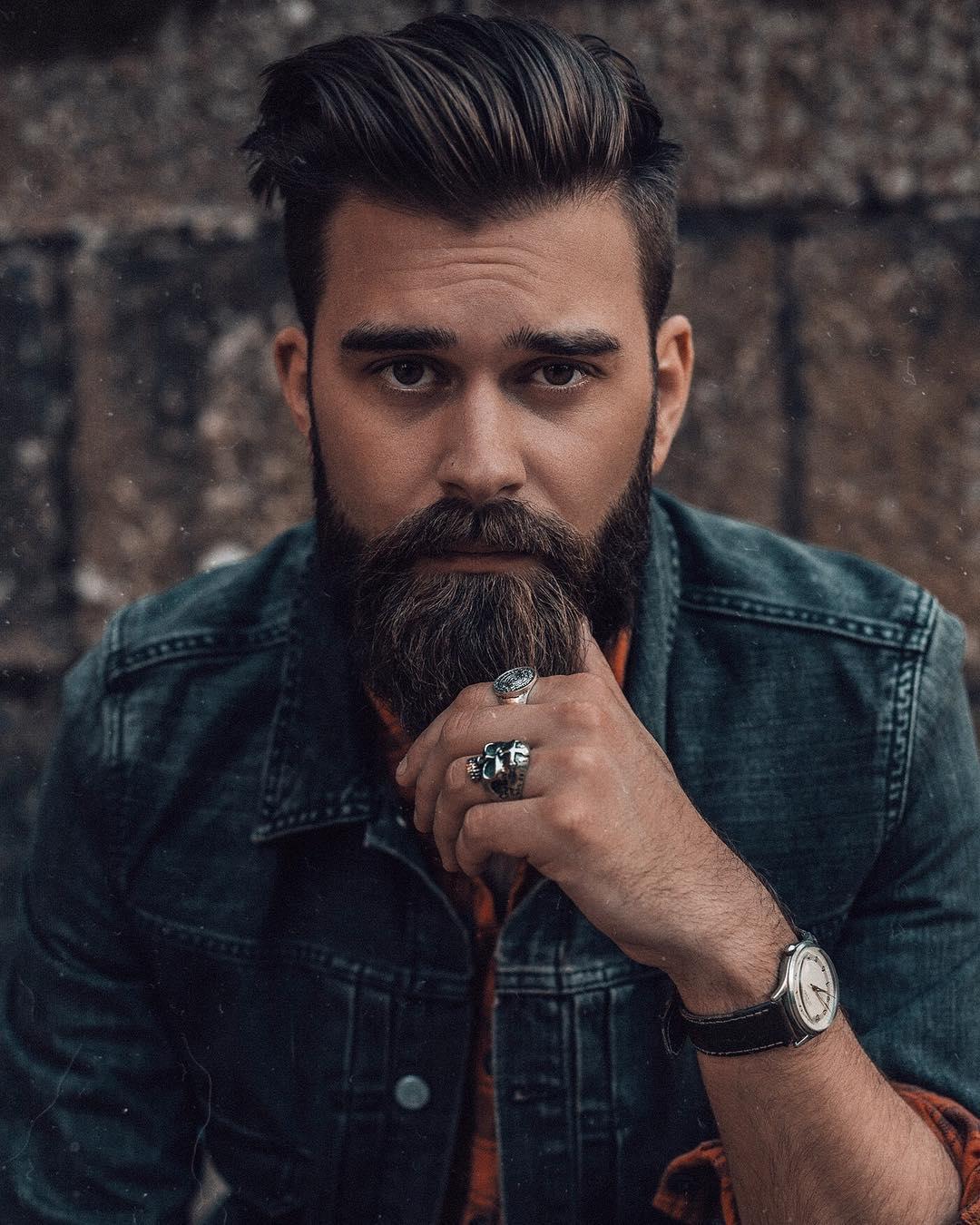 Classic Slicked + Full Beard