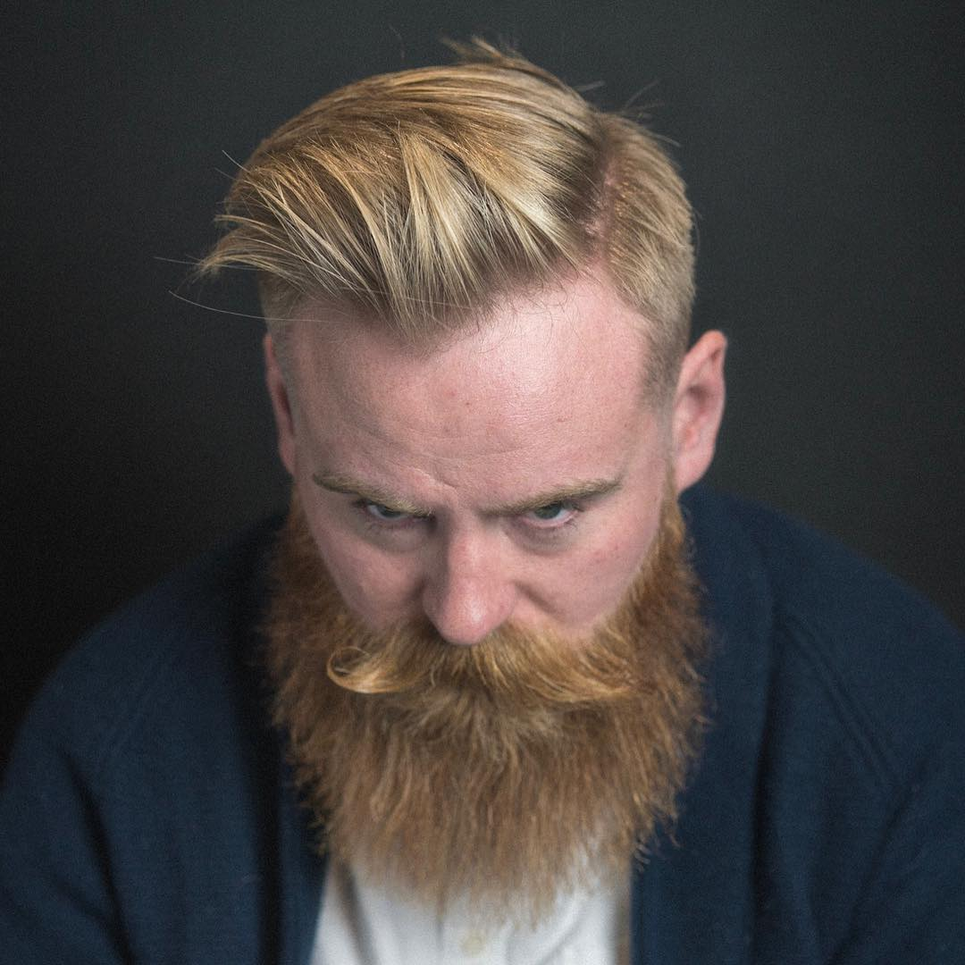 Combover + Full Beard