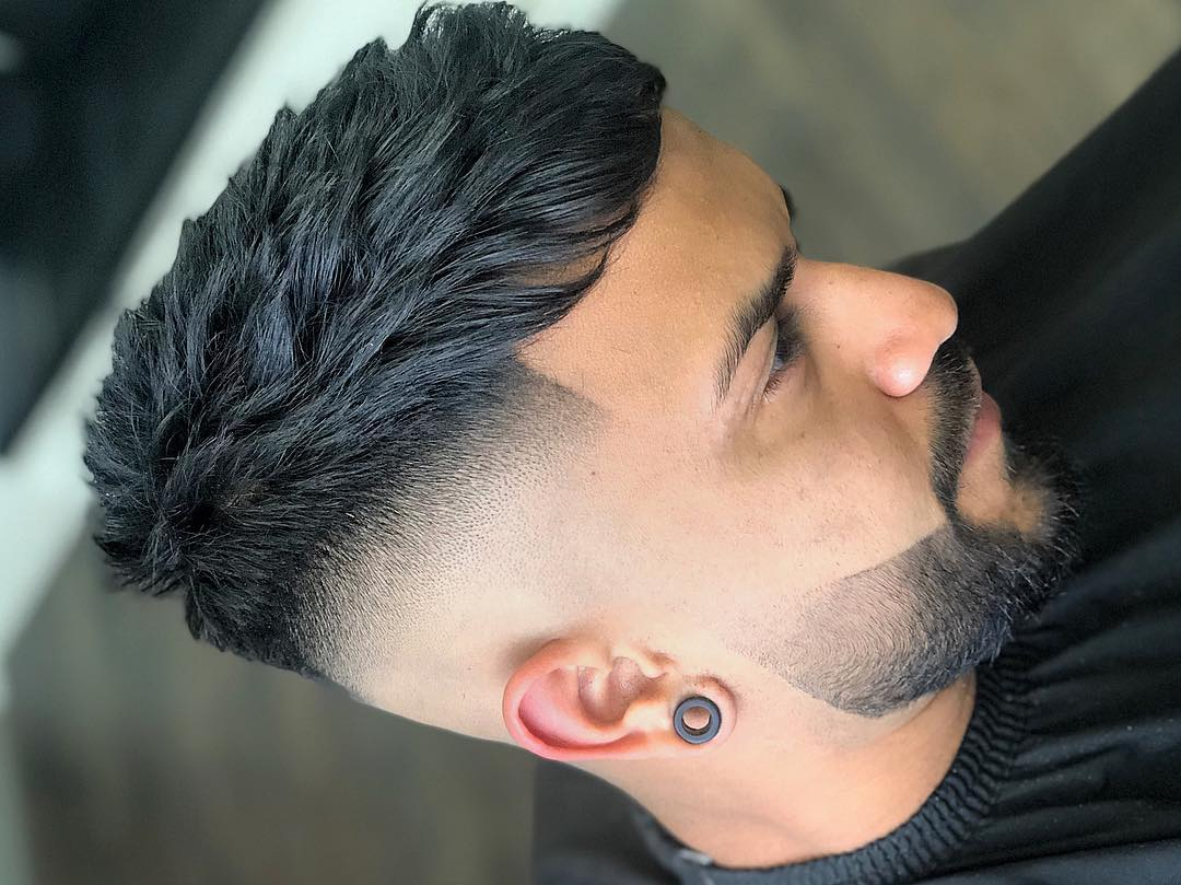Drop Fade + Cool Beard