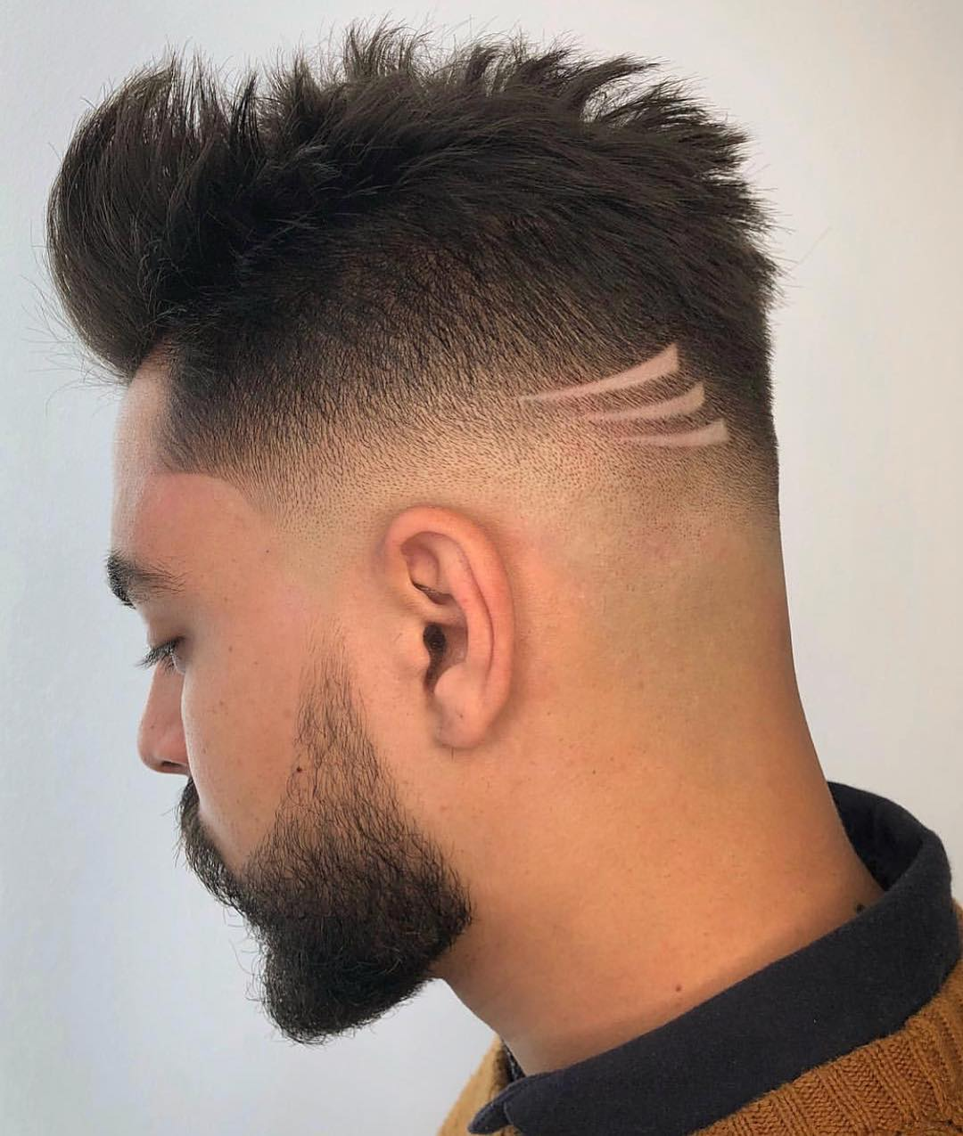 Sharp Fade + Three Clip