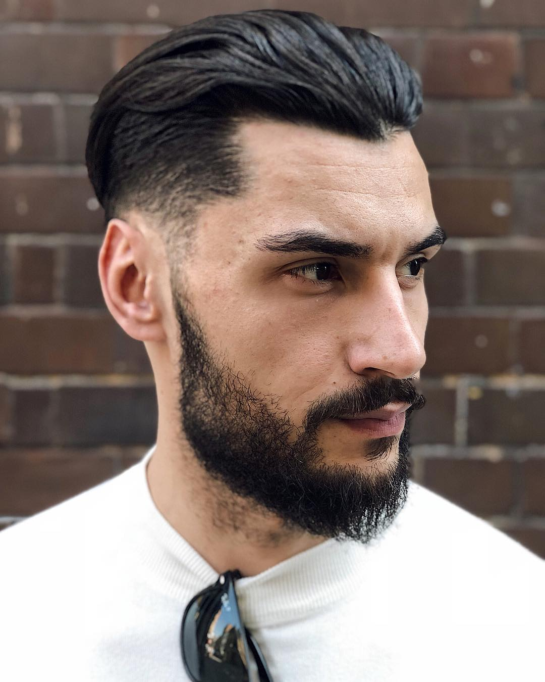 Taper + Slicked Back Undercut